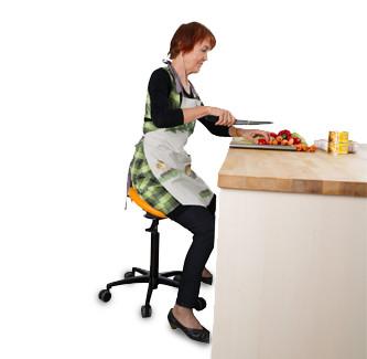 Homemaker cooking - Salli Saddle Chair