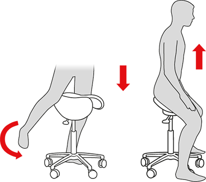 How to get on and off a Salli Saddle Chair